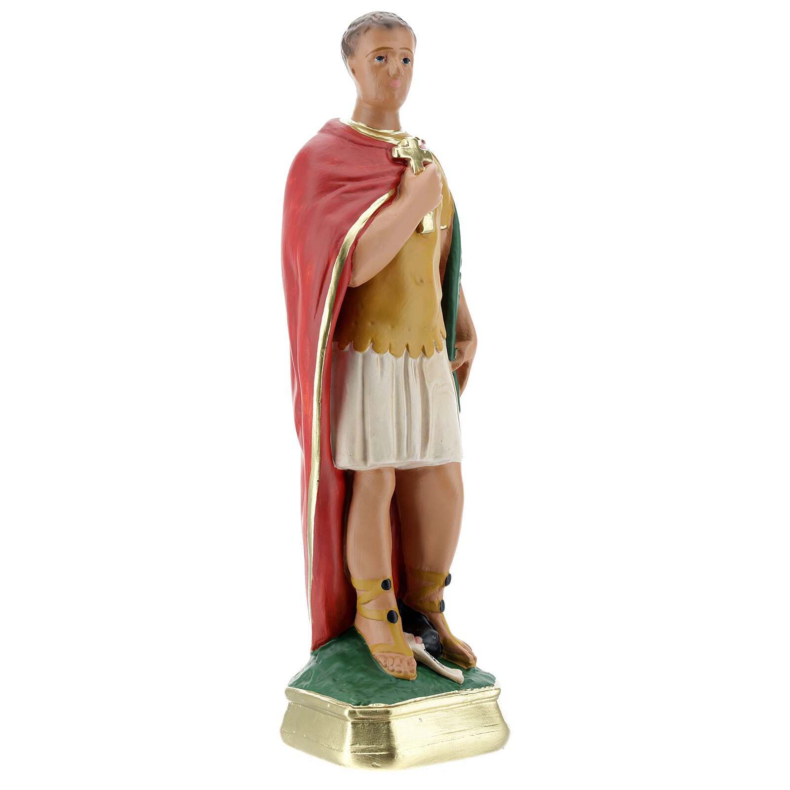 San Expedito estatua yeso 30 cm pintada a mano Arte Barsanti 4