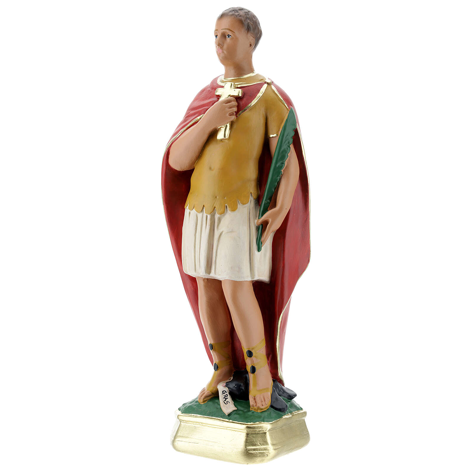 Saint Expédit statue plâtre 30 cm peint main Arte Barsanti 4