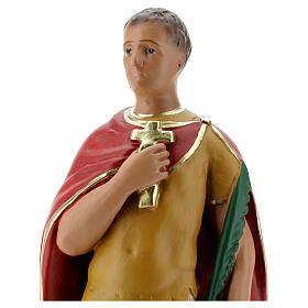 Saint Expédit statue plâtre 30 cm peint main Arte Barsanti s2