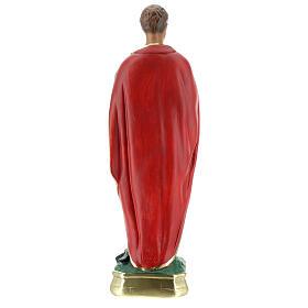 Saint Expédit statue plâtre 30 cm peint main Arte Barsanti s6