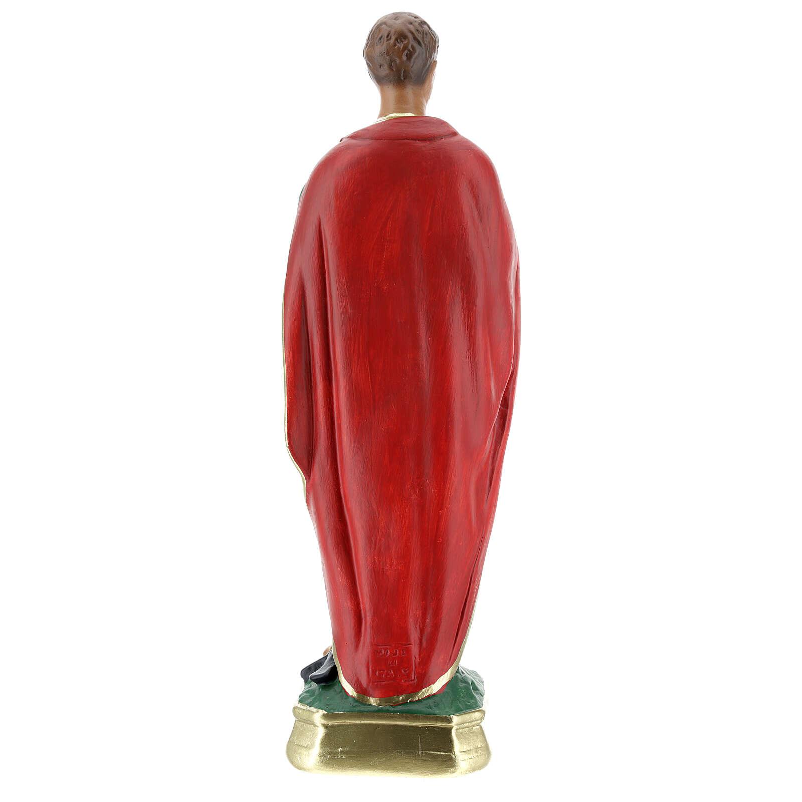 St Expedite statue, 30 cm hand painted plaster Arte Barsanti 4