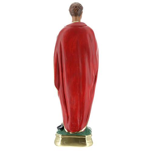 St Expedite statue, 30 cm hand painted plaster Arte Barsanti 6