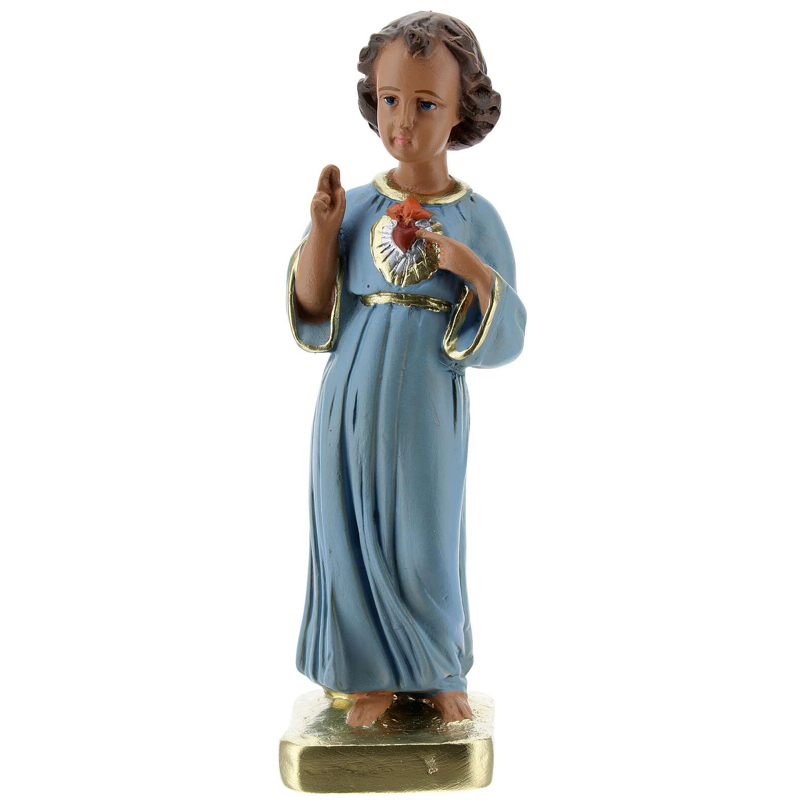 Niño que bendice estatua yeso 20 cm pintada Barsanti 4