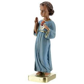 Niño que bendice estatua yeso 20 cm pintada Barsanti s2