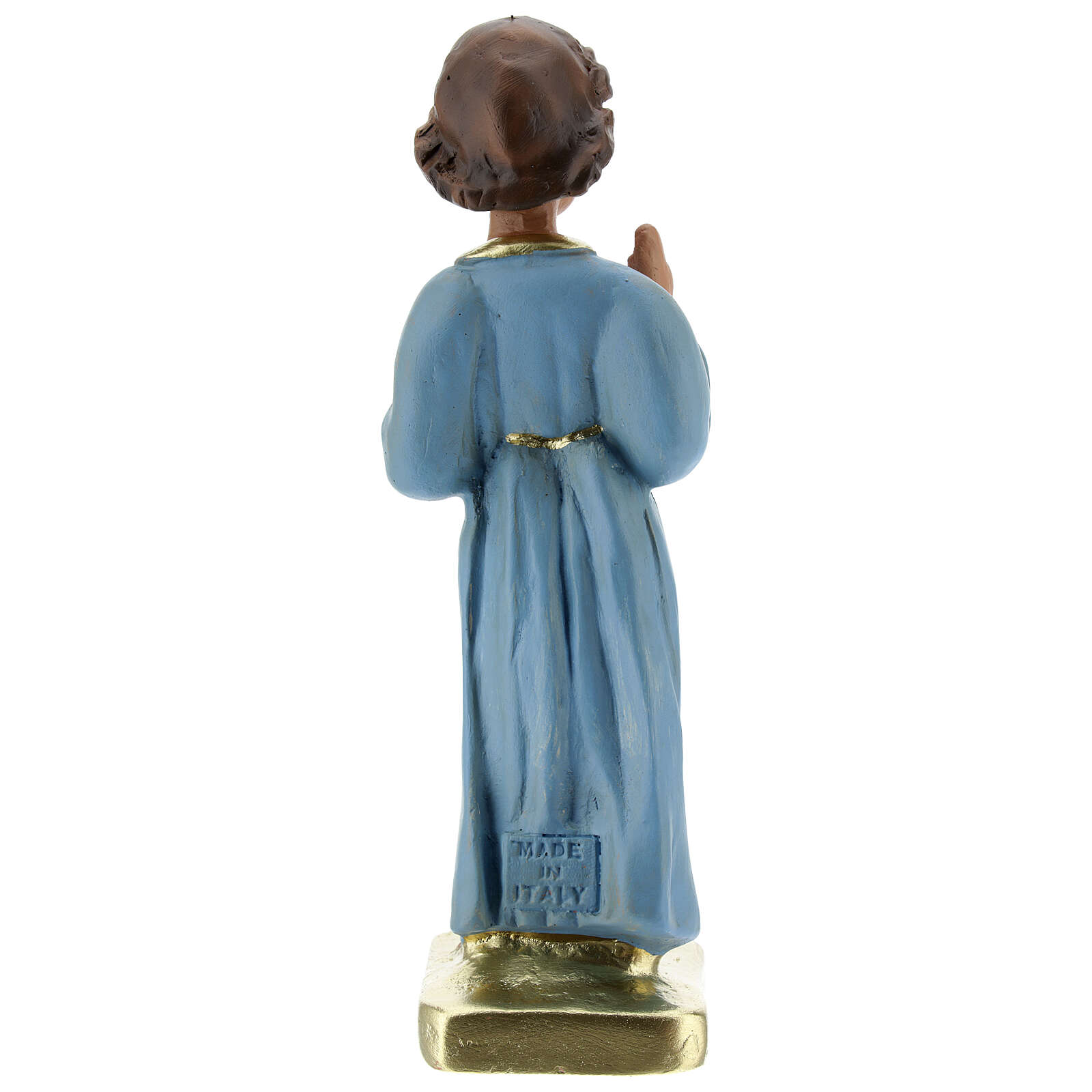 Bambino Benedicente statua gesso 20 cm dipinta Barsanti 4