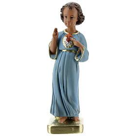 Blessing Child Jesus statue, 20 cm painted plaster Barsanti s1