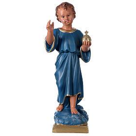 Estatua Niño que bendice 40 cm yeso pintado mano Arte Barsanti s1