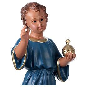 Estatua Niño que bendice 40 cm yeso pintado mano Arte Barsanti s2