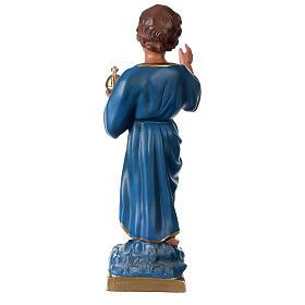Estatua Niño que bendice 40 cm yeso pintado mano Arte Barsanti s5