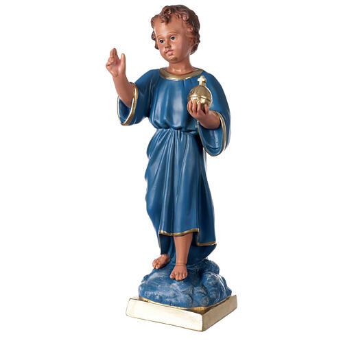 Estatua Niño que bendice 40 cm yeso pintado mano Arte Barsanti 3