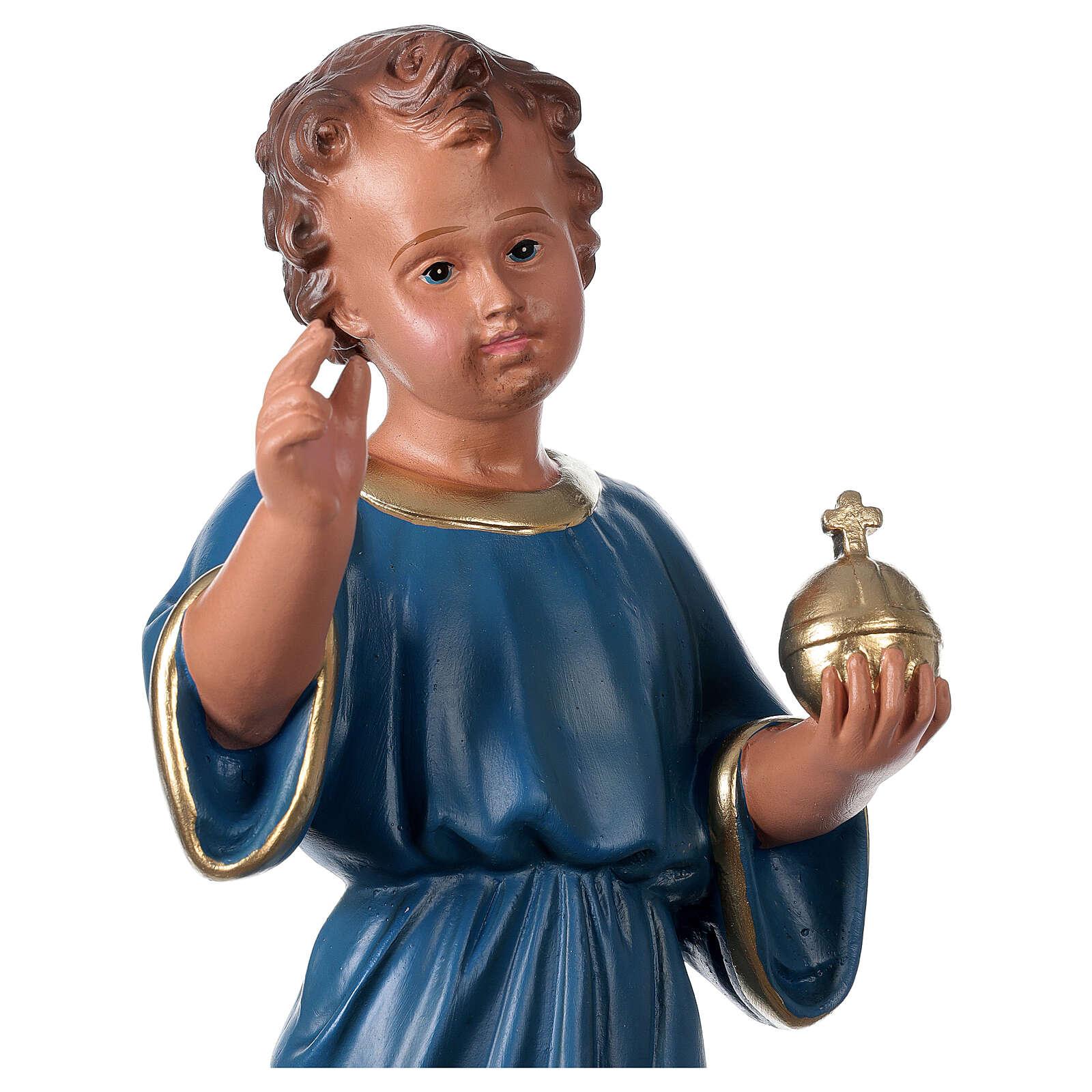 Statua Bambino Benedicente 40 cm gesso dipinto mano Arte Barsanti 4
