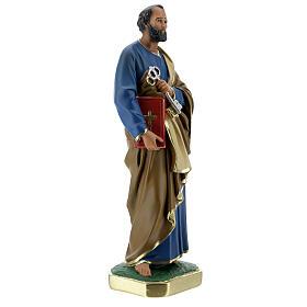 Saint Pierre statue plâtre 30 cm peint main Arte Barsanti s4