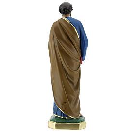 Saint Pierre statue plâtre 30 cm peint main Arte Barsanti s5