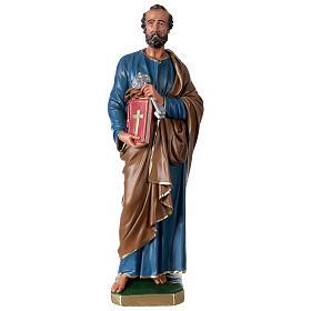 Statua San Pietro gesso 60 cm dipinta a mano Arte Barsanti s1