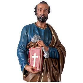Statua San Pietro gesso 60 cm dipinta a mano Arte Barsanti s2