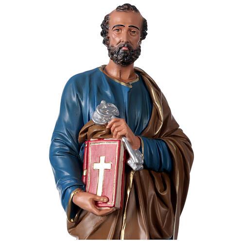 Statua San Pietro gesso 60 cm dipinta a mano Arte Barsanti 2