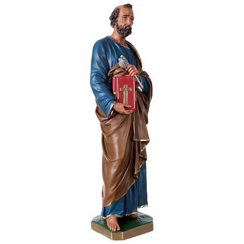 Statua San Pietro gesso 60 cm dipinta a mano Arte Barsanti 4