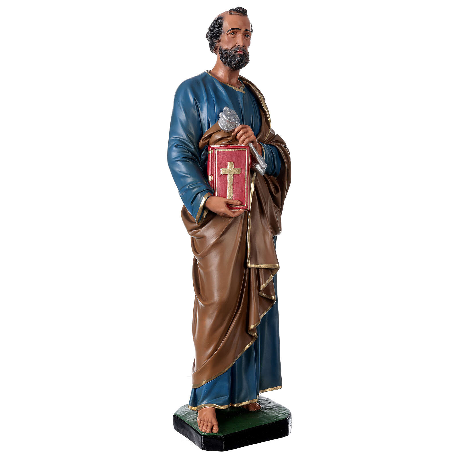 St. Peter hand painted resin statue Arte Barsanti 60 cm 4