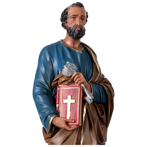 St. Peter hand painted resin statue Arte Barsanti 60 cm 2