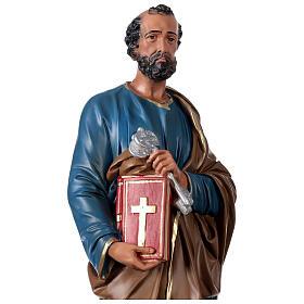San Pietro 60 cm statua resina dipinta a mano Arte Barsanti s2