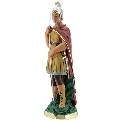 Saint Georges statue plâtre 30 cm peint main Arte Barsanti 3