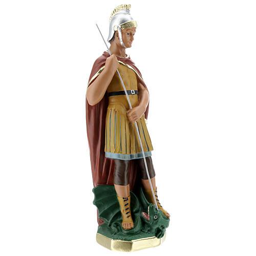 Saint Georges statue plâtre 30 cm peint main Arte Barsanti 5