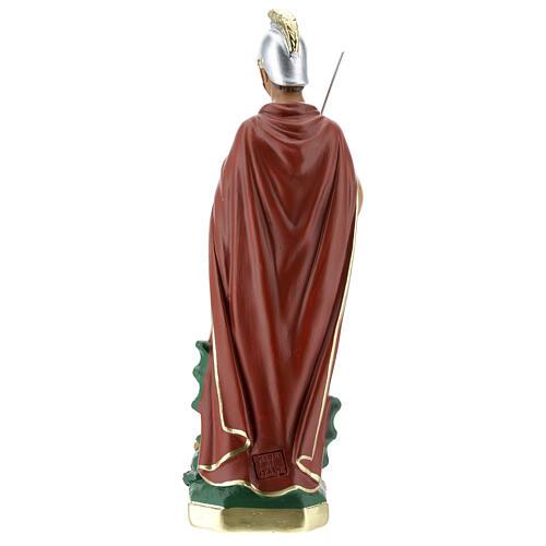 Saint Georges statue plâtre 30 cm peint main Arte Barsanti 6