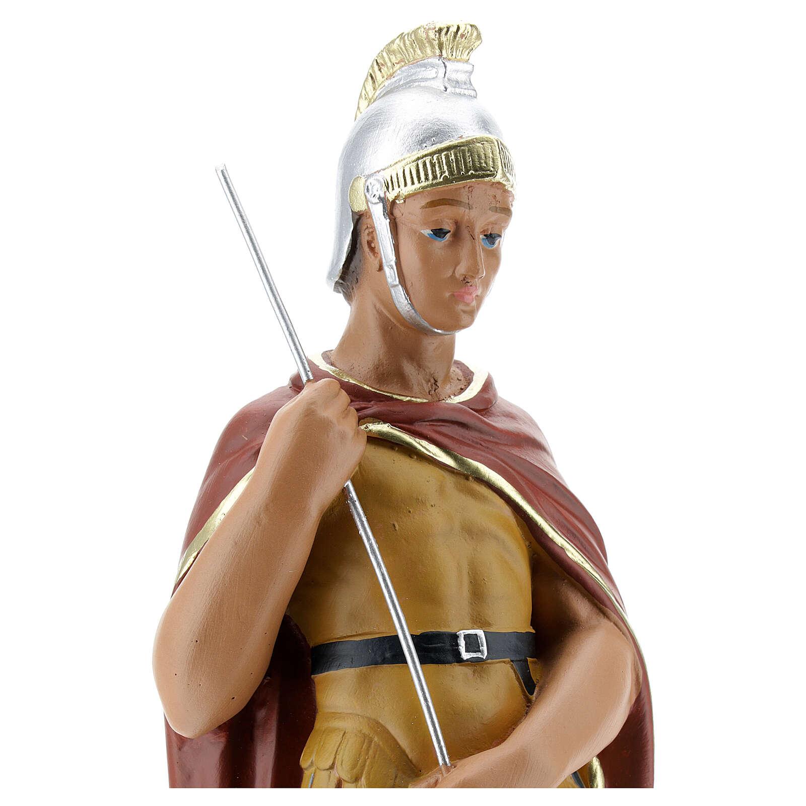 Saint George plaster statue, 30 cm hand painted Arte Barsanti 4