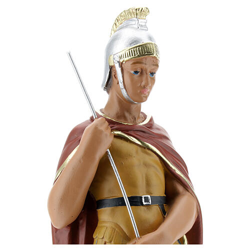 Saint George plaster statue, 30 cm hand painted Arte Barsanti 2