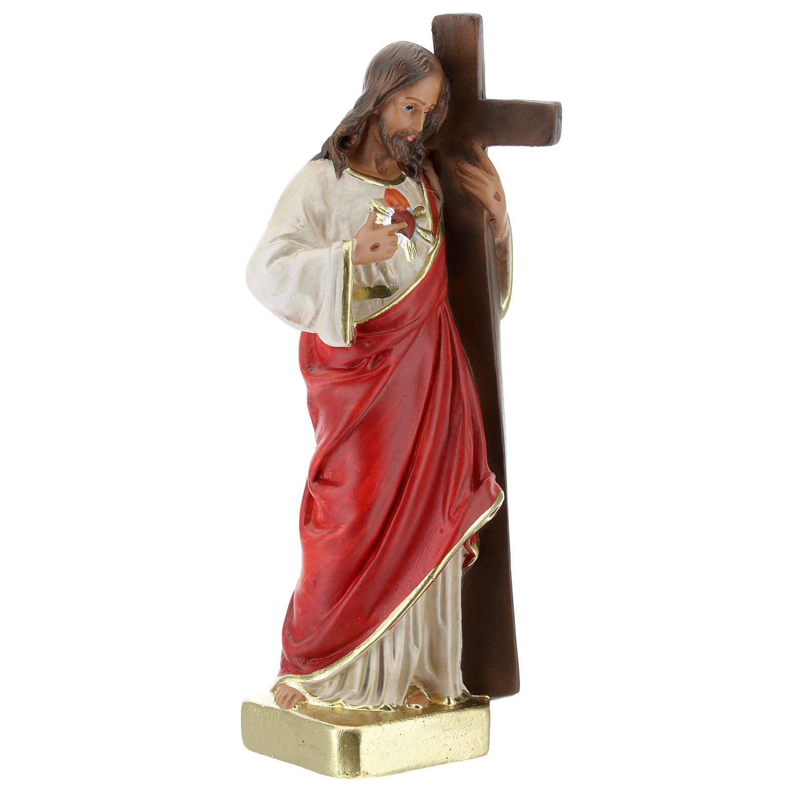 Redeemer plaster statue 20 cm hand painted Arte Barsanti 4