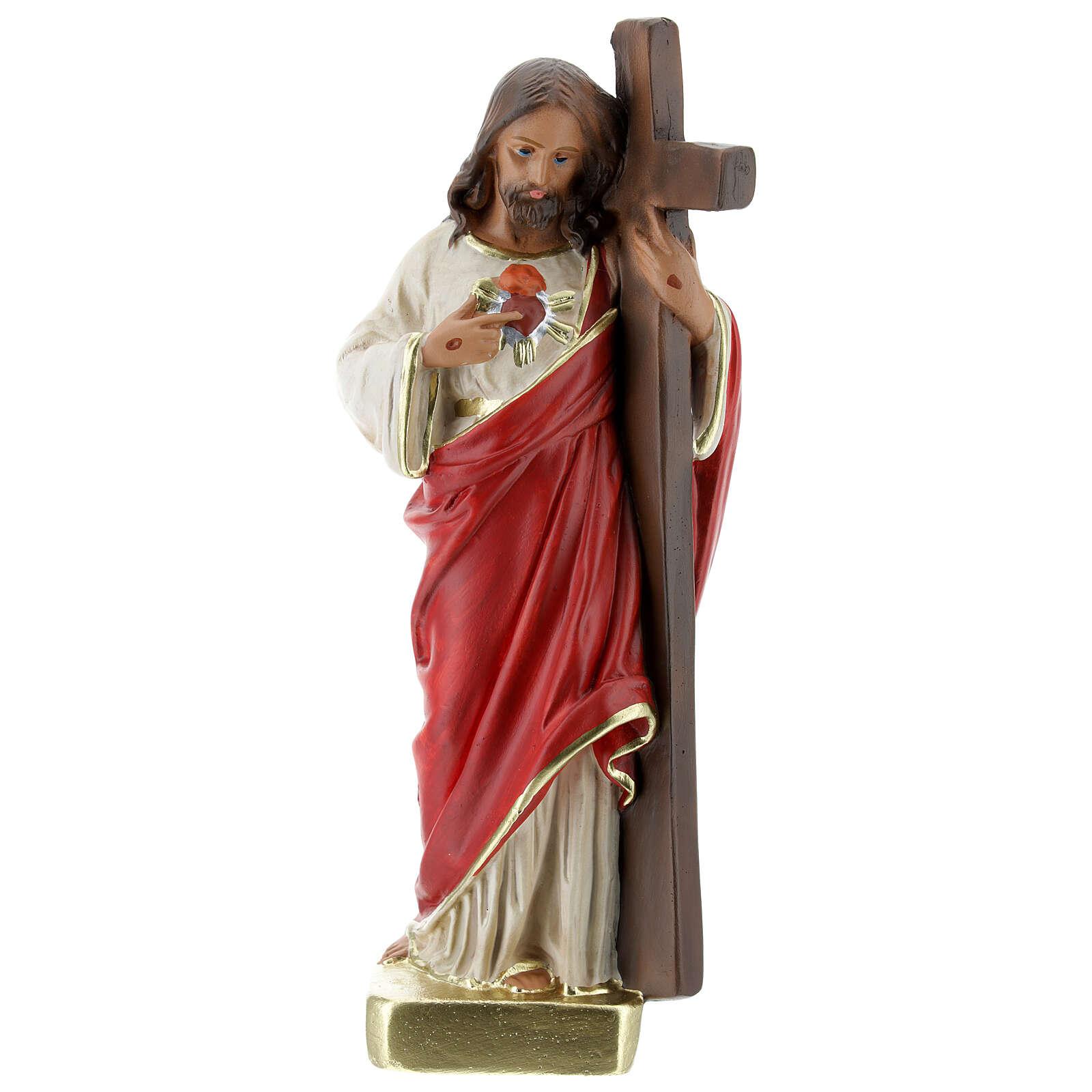Statue Rédempteur 20 cm plâtre peint main Arte Barsanti 4