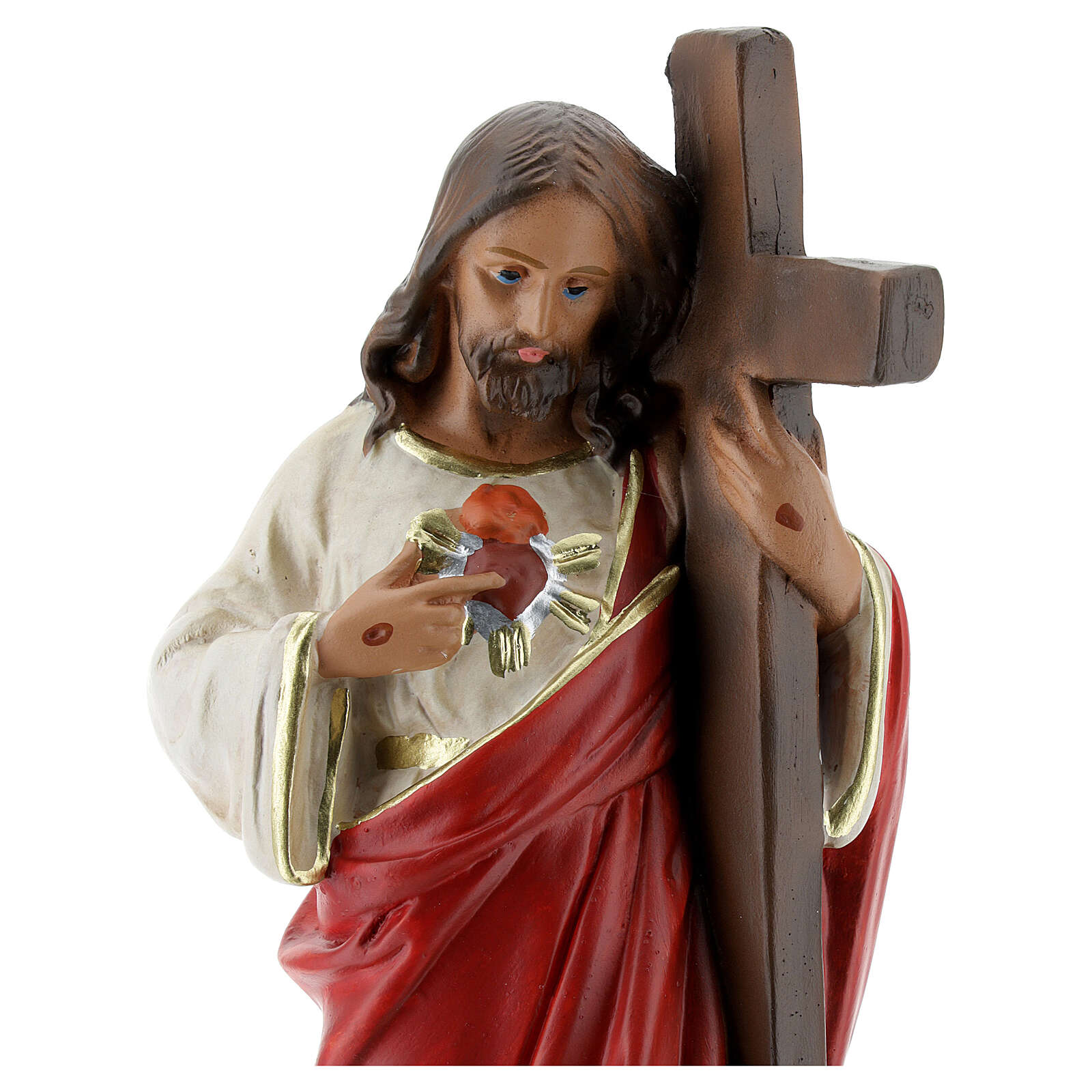 Jesus Christ Redeemer statue, 20 cm hand painted plaster Arte Barsanti 4