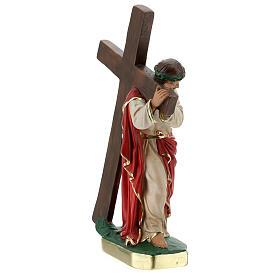 Redeemer plaster statue 30 cm hand painted Arte Barsanti s5