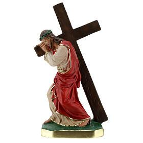 Rédempteur statue plâtre 30 cm peinte à la main Arte Barsanti s1