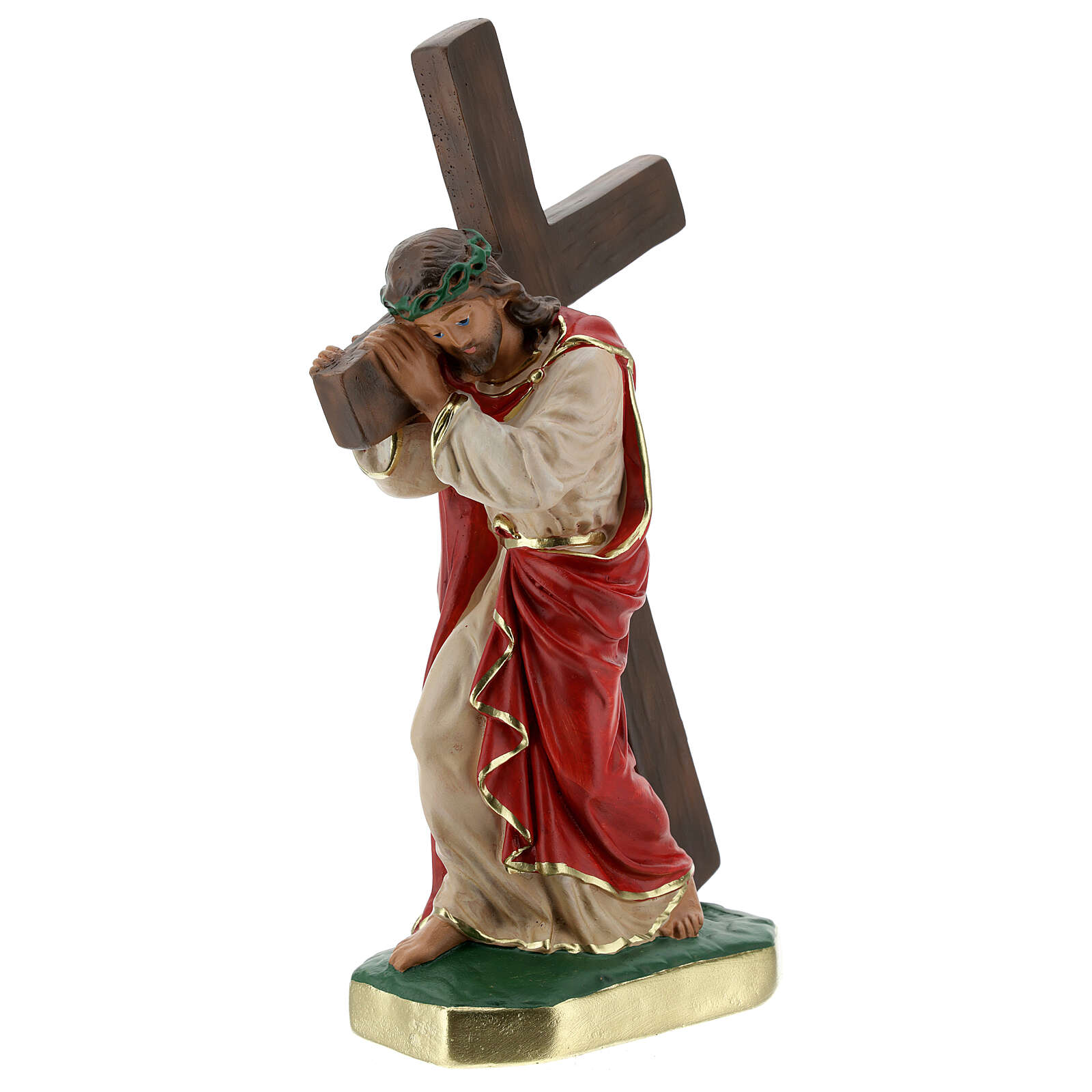 Christ the Redeemer plaster statue, 30 cm hand painted Arte Barsanti 4