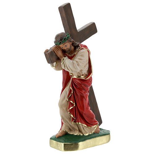 Christ the Redeemer plaster statue, 30 cm hand painted Arte Barsanti 3