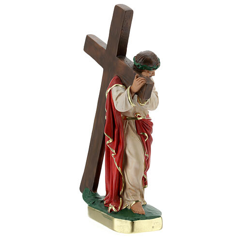 Christ the Redeemer plaster statue, 30 cm hand painted Arte Barsanti 5