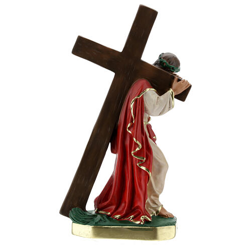 Christ the Redeemer plaster statue, 30 cm hand painted Arte Barsanti 6
