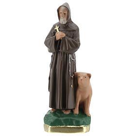 Saint Antoine Abbé statue plâtre 20 cm peinte main Barsanti s1