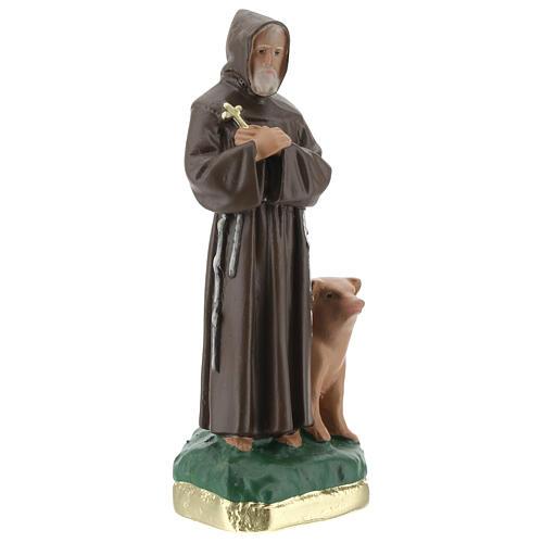 Saint Antoine Abbé statue plâtre 20 cm peinte main Barsanti 3