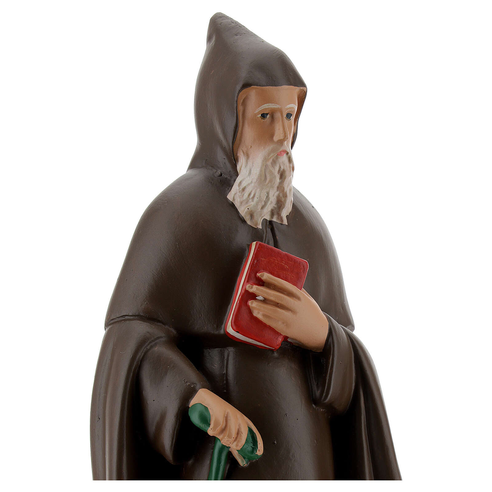 Statue of Saint Anthony Abbot, 25 cm in hand painted plaster Barsanti 4