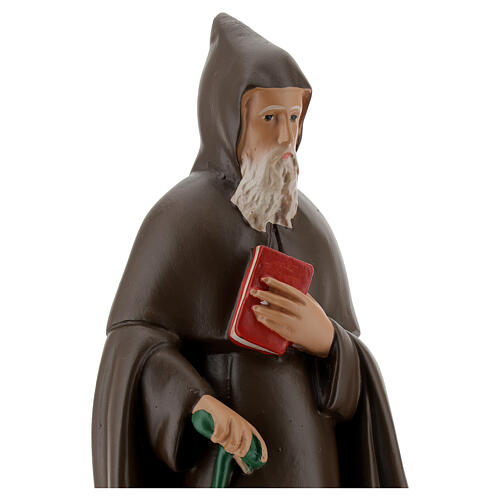 Statue of Saint Anthony Abbot, 25 cm in hand painted plaster Barsanti 2