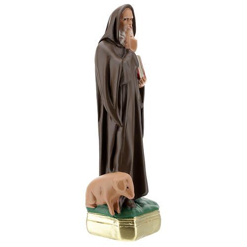 Statue Saint Antoine Abbé plâtre 30 cm peinte à la main Barsanti 4