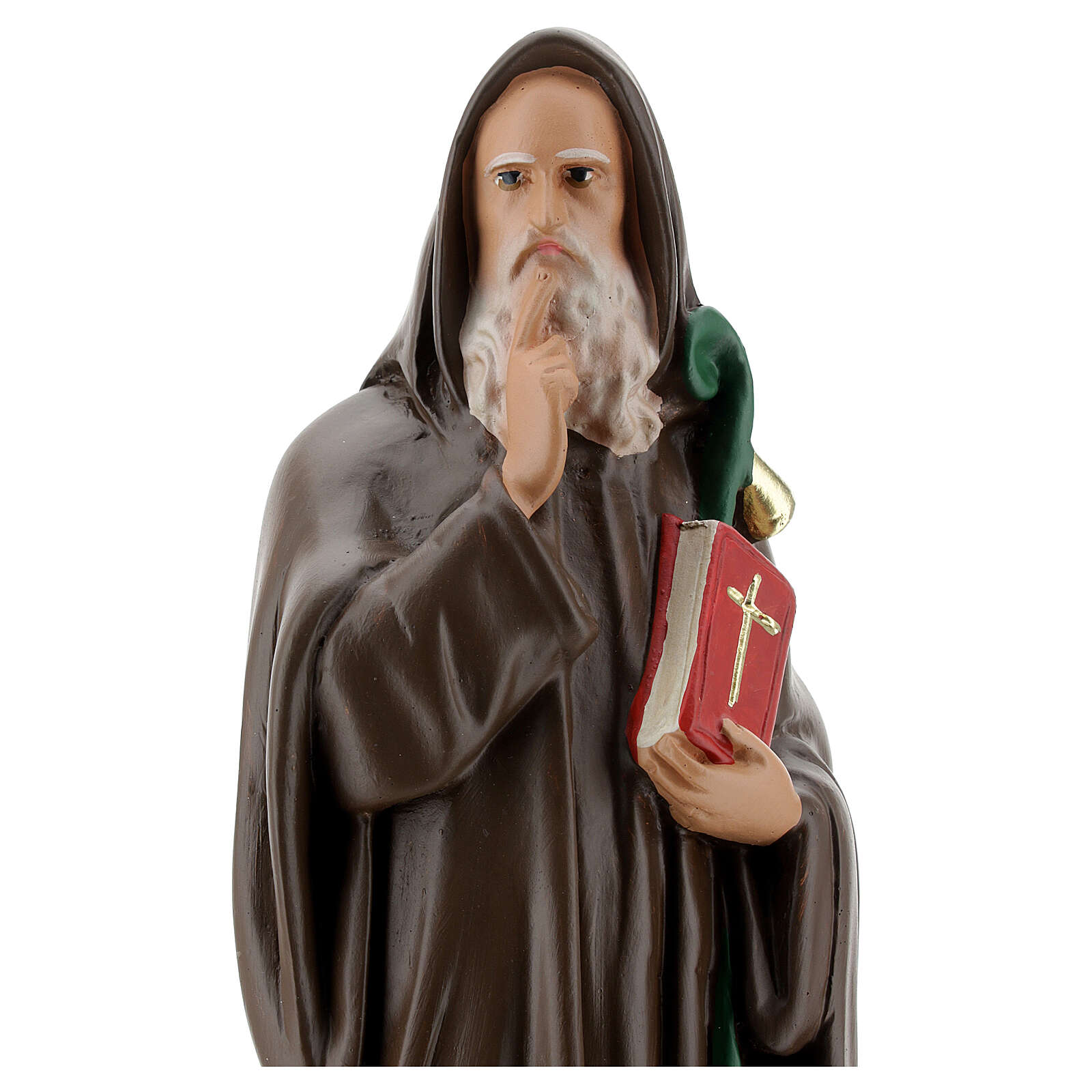 Statue of St Anthony the Abbot, 30 cm hand painted plaster Barsanti 4