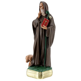 Statue of St Anthony the Abbot, 30 cm hand painted plaster Barsanti s3