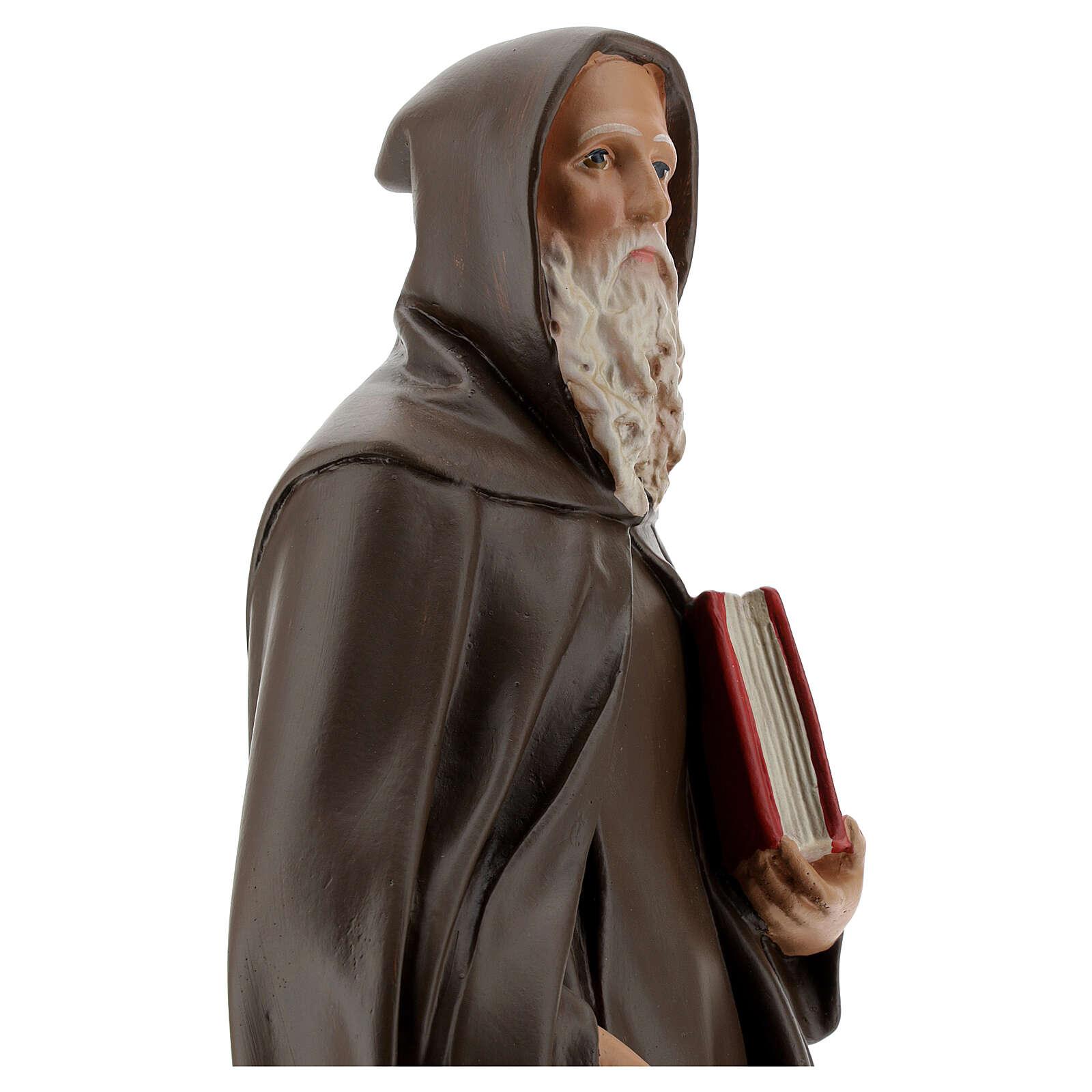 Saint Antoine Abbé plâtre peint main 40 cm Barsanti 4