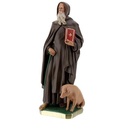 Saint Antoine Abbé plâtre peint main 40 cm Barsanti 3