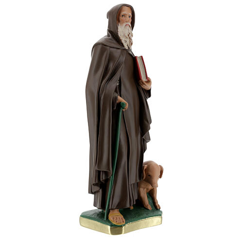 Saint Antoine Abbé plâtre peint main 40 cm Barsanti 5