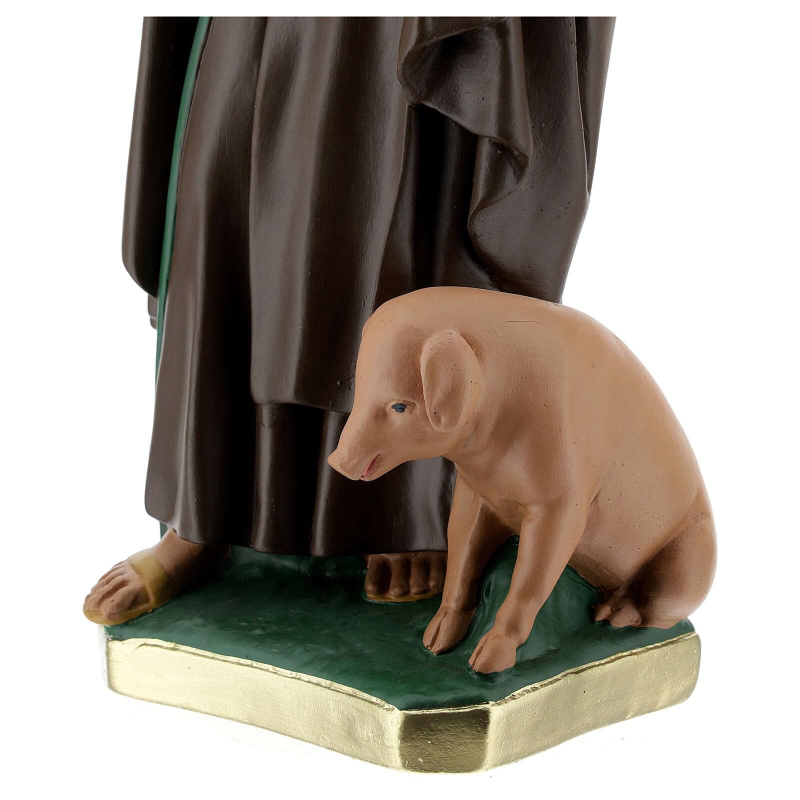 St Anthony Abbot plaster statue, 40 cm hand painted Barsanti 4