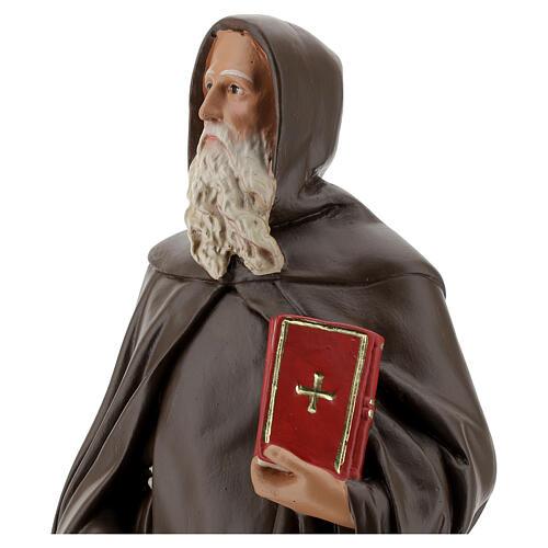 St Anthony Abbot plaster statue, 40 cm hand painted Barsanti 2